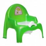 горшок стульчик 11102 зеленый