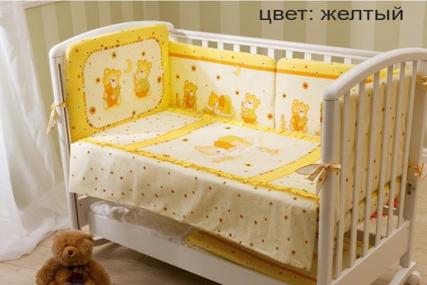кпб мишка на подушке желт_