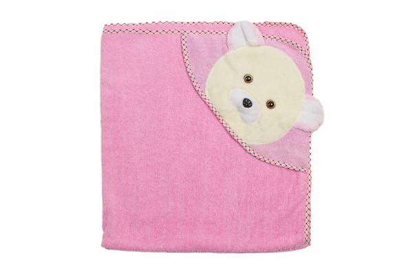 полотенце уголок махра мишка роз