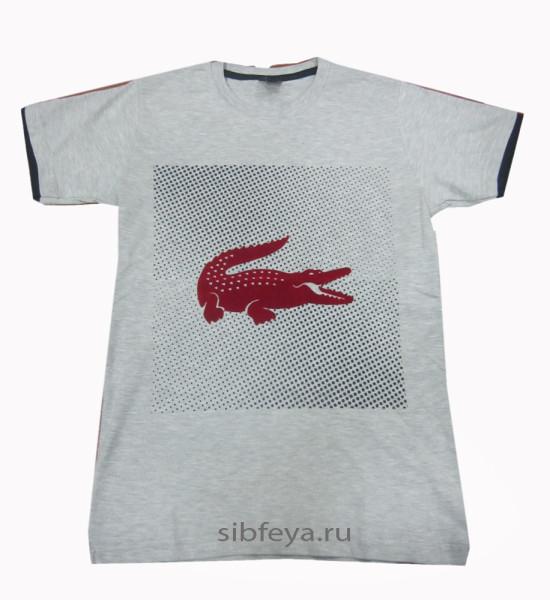 футболка серый крокодил