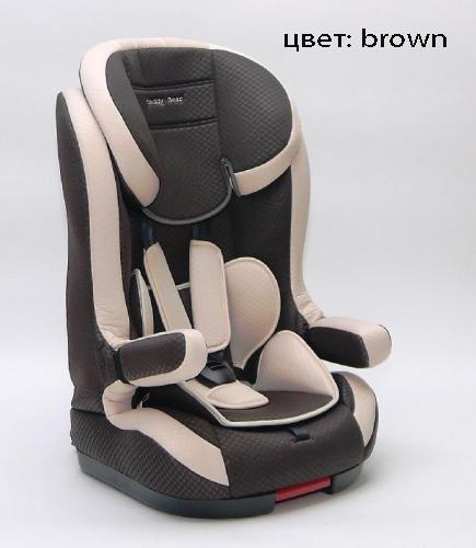 BABY CAR SEAT HB638 с изофиксом (группа 1,2,3 от 9-36 кг.) brown