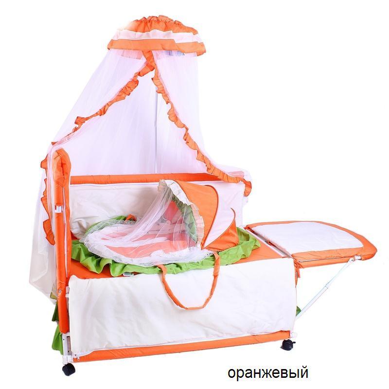 Кроватка детская KDD-117H оранж