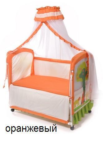 Кроватка детская KDD-117H оранж_