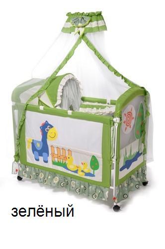 Кроватка детская KDD-119H зел