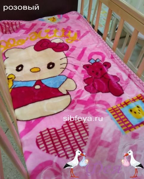 плед розовый hello kitty