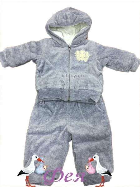 костюм 197 500611 серый