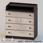 80 4 ПВХ с рисунком Зайка (фрезеровка) венге береза