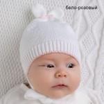 шапка зайка без подкл бел роз