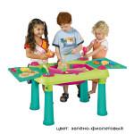 KETER Столик CREATIVE для детского творчества и игры с водой зел фиол