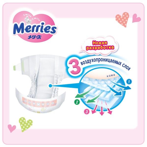 merries для новорож 24шт_