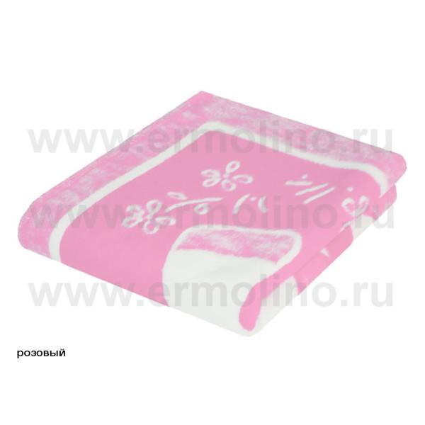 Одеяло байковое 140_100 Ермолино 57_8ЕТ Ж роз