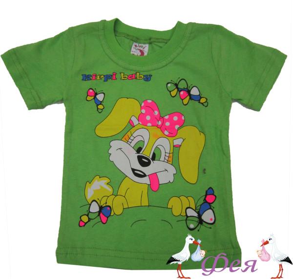 футболка зел собачка
