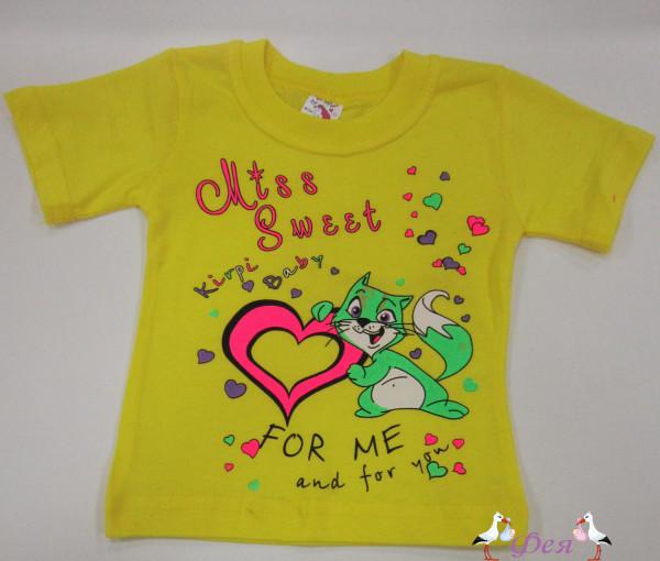 футболка 100 желт