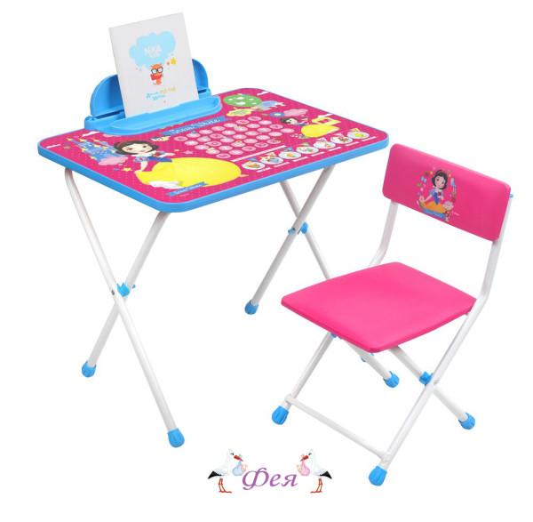 Д1БК-М Комплект Disney с Белоснежкой (стол 520+пенал+стул мягкий)