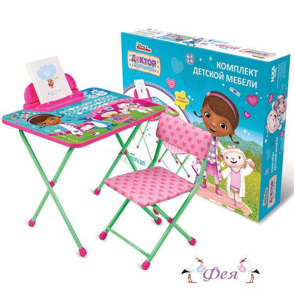 Д1П_ДП Комплект Disney 1 Доктор Плюшева (стол 520+пенал+стул мягкий)