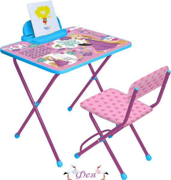 Д1Р-М Комплект Disney 1 Рапунцель (стол 520+пенал+стул мягкий)