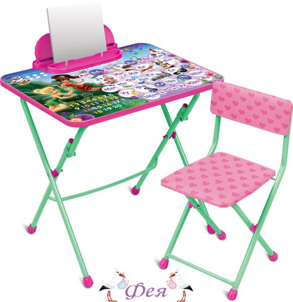Д3Ф1 Комплект Disney Феи.Азбука (стол 570+пенал+стул мягкий)