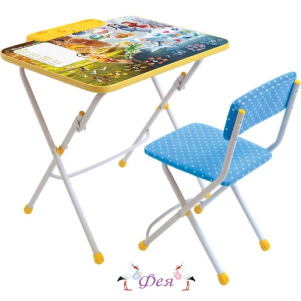 Д3Ф2 Комплект Disney 3 Феи.Тайны зимнего леса (стол 570+пенал+стул мягкий)