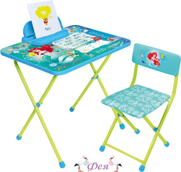 Д4РУ Комплект Disney Русалочка (стол 570+пенал+стул мягкий)