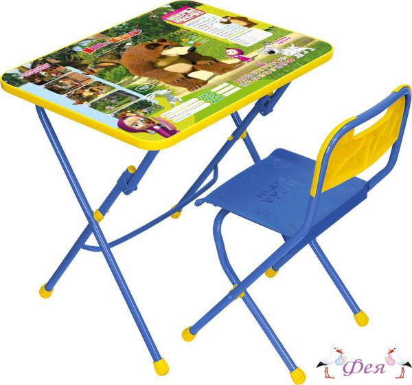 КПУ1 Комплект «Маша и медведь» (стол+стул пластиковый) КПУ1_6 позвони мне