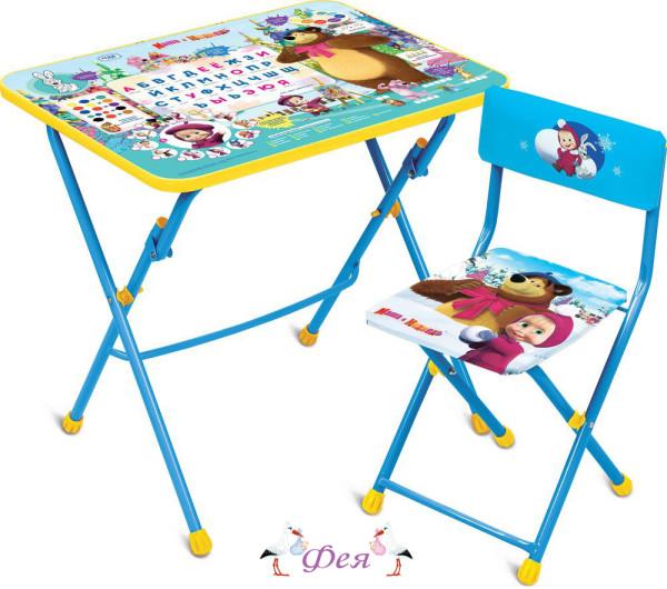 КПУ1_2 Комплект Азбука2 Маша и медведь (стол+стул пл)
