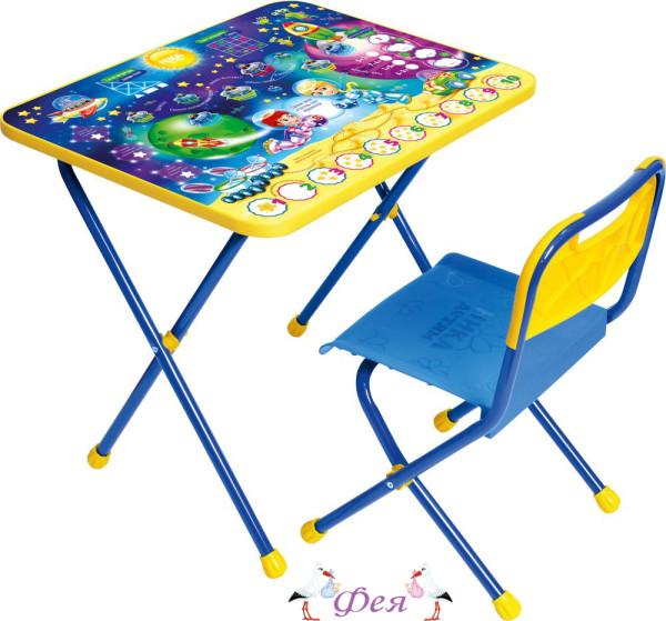 КП Комплект Познайка (стол+стул пластиковый) КП_8 математика в космосе