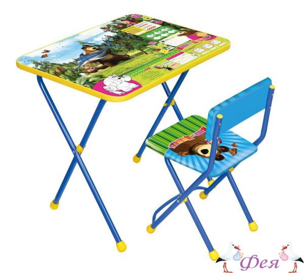 КП2 Комплект «Маша и медведь» (стол+стул мягкий) КП2_5 ловись рыбка