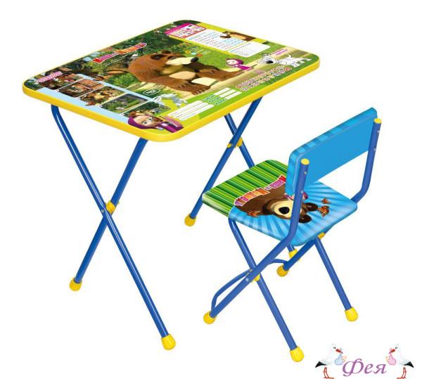 КП2 Комплект «Маша и медведь» (стол+стул мягкий) КП2_6 позвони мне