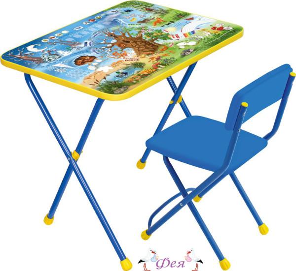 КП2 Комплект Познайка (стол+стул мягкий) КП2_7 хочу все знать