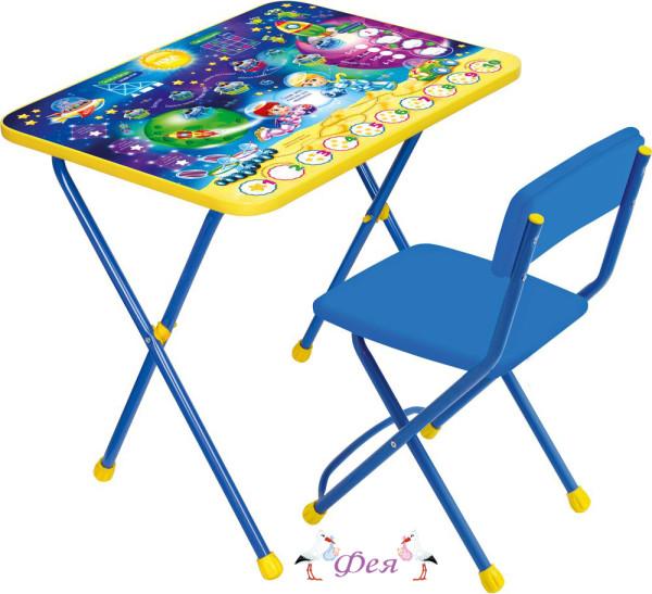 КП2 Комплект Познайка (стол+стул мягкий) КП2_8 математика в космосе