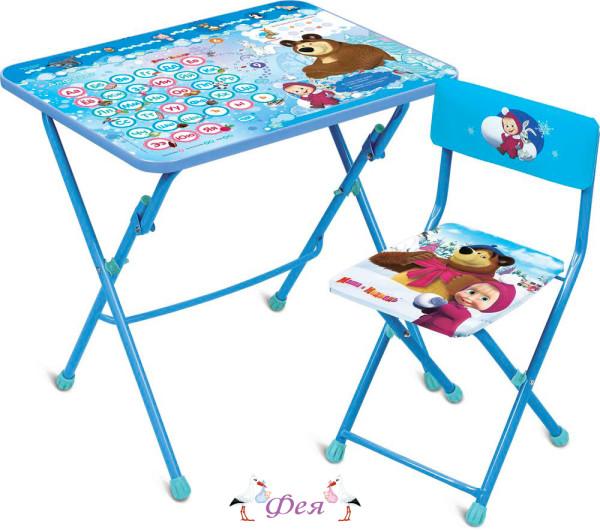 КУ1 Комплект «Маша и медведь» (стол+стул мягкий) КУ1_18 азбука 4