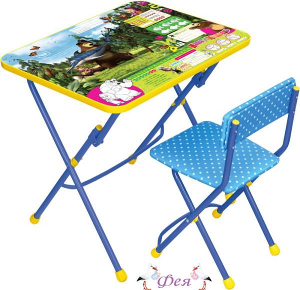 КУ1 Комплект «Маша и медведь» (стол+стул мягкий) КУ1_5 ловись рыбка