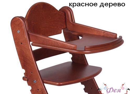Столик для растущего стула Два Кота красное дерево