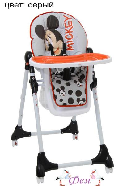 Стульчик для кормления Polini Disney baby 470 Микки Маус, серый