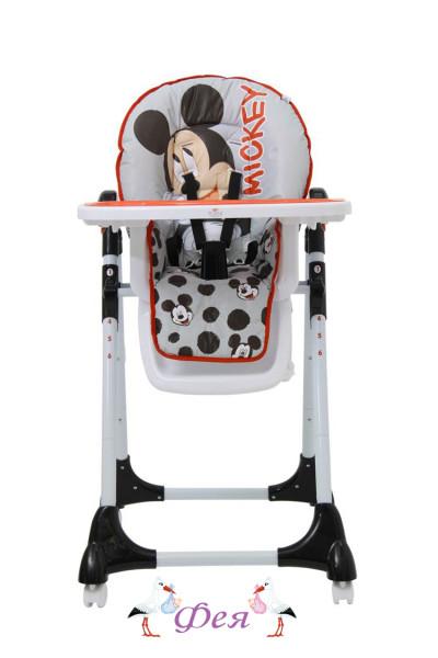 Стульчик для кормления Polini Disney baby 470 Микки Маус, серый_1