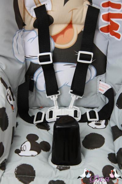 Стульчик для кормления Polini Disney baby 470 Микки Маус, серый__1