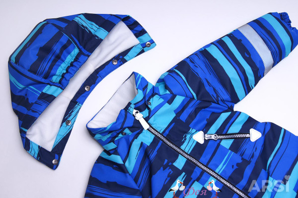 меланж синий-3