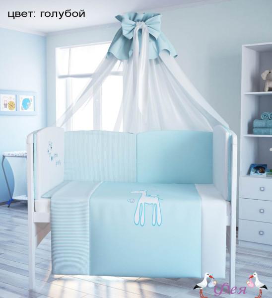 Комплект в кроватку 140_70 Fairy Жирафик 7 предметов гол_