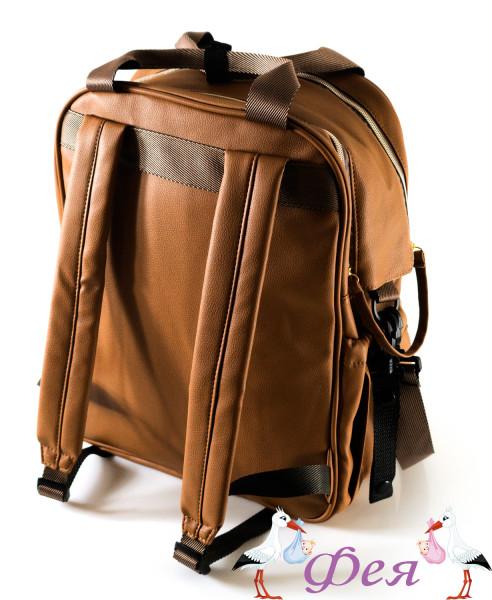 рюкзак f4 экокожа коричнев