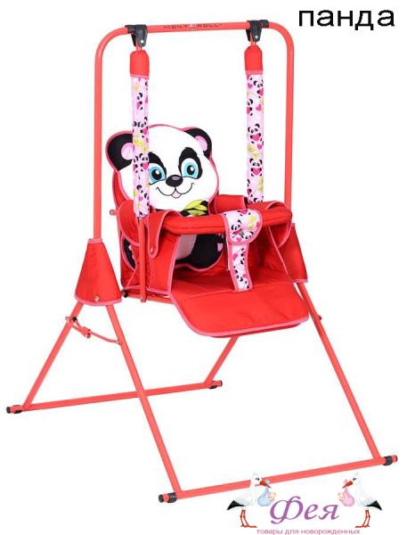 качели без тента красн панда