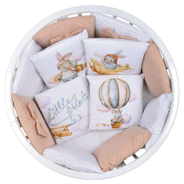 Комплект в кроватку 18 предметов, сатин_бязь С22_2