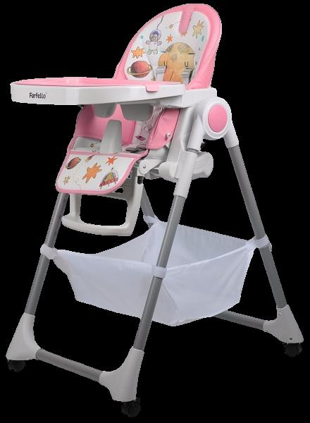 Стульчик для кормления детский Farfello Grace розовый_1